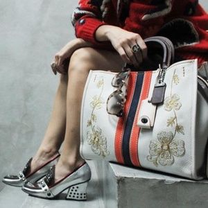Coach 1941 | Rogue White Embroidered Bag